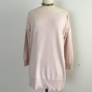 ONE A BLUSH BOAT NECK TUNIC SIZE S